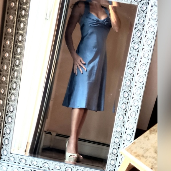 Calvin Klein Dresses & Skirts - Calvin Klein silk sheath criss cross back XS-S